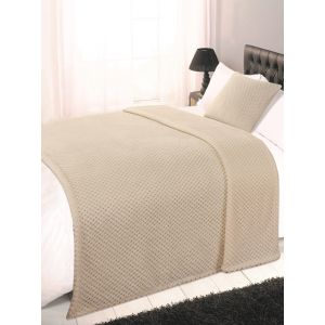 Textured Knit Throw - Mink