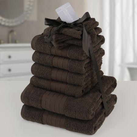 Dreamscene Towel Bale 10 Piece - Chocolate