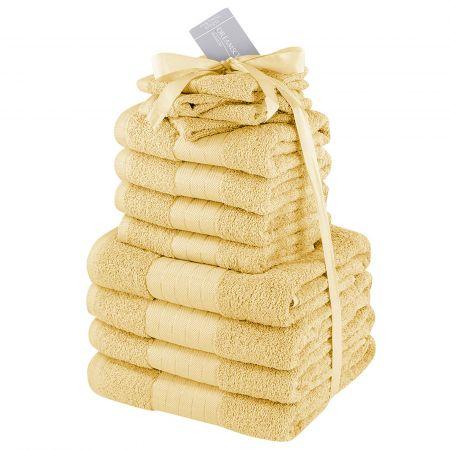 Dreamscene Towel Bale 12 Piece - Mustard Ochre Yellow