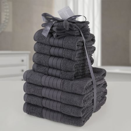 Brentfords Towel Bale 12 Piece - Charcoal