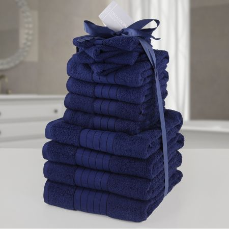 Brentfords Towel Bale 12 Piece - Navy