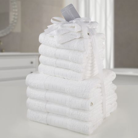 Brentfords Towel Bale 12 Piece - White