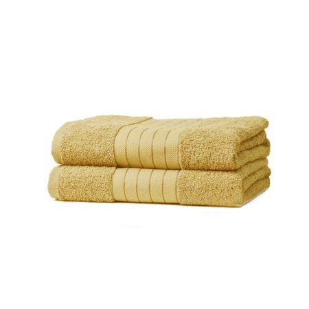 Dreamscene 2 Jumbo Bath Sheets - Mustard Ochre Yellow