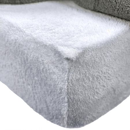 Brentfords Teddy Fleece Fitted Sheet - Silver Grey