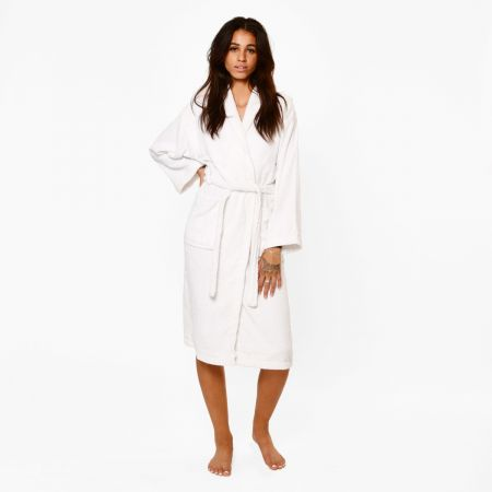 Brentfords Luxury 100% Cotton Dressing Gown - White