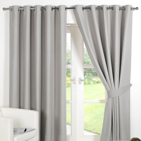 Dreamscene Eyelet Blackout Curtains - Silver