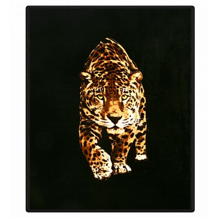 Dreamscene Faux Fur Leopard Mink Throw - 150 x 200cm