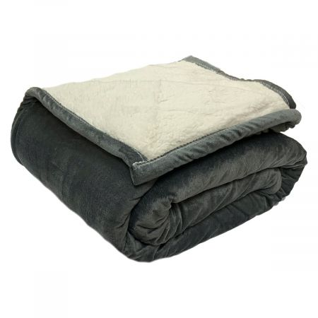 Dreamscene Plain Sherpa Fleece Throw, Grey - 150 x 180cm
