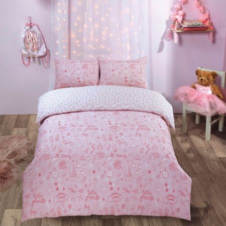 Dreamscene Little Princess Duvet Set - Blush Pink
