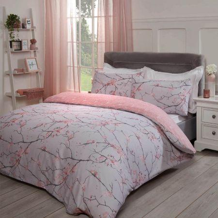 Dreamscene Spring Blossoms Duvet Cover Set - Blush Pink