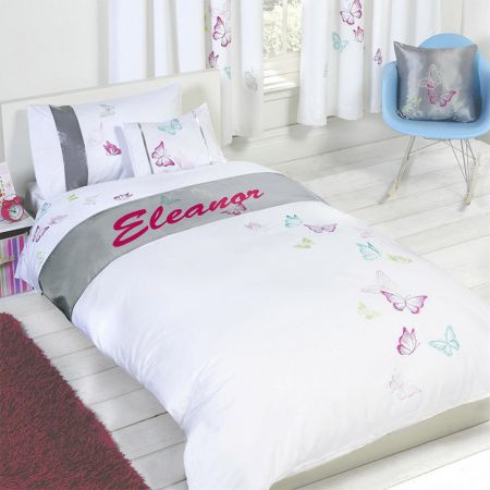 Eleanor - Personalised Butterfly Duvet Cover Set