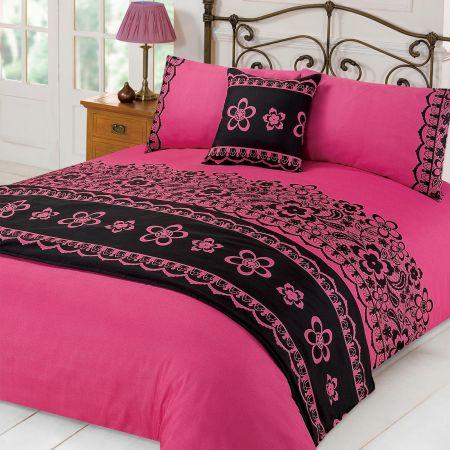 Hannah Bed In A Bag Duvet Cover Set - Pink
