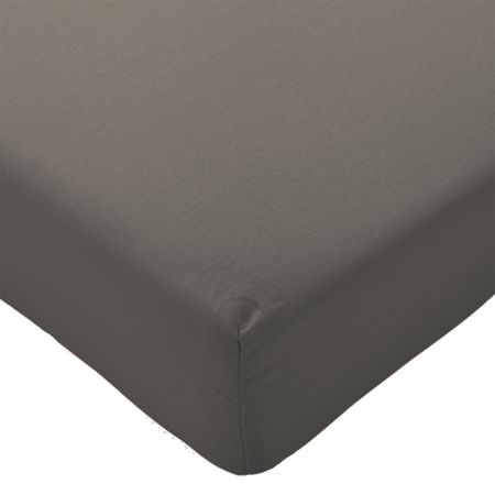 Highams Easy Care Polycotton Fitted Sheet - Charcoal Grey