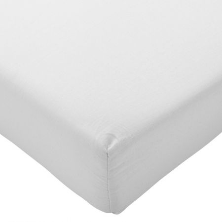 Highams 100% Brushed Cotton Flannelette Fitted Sheet - White