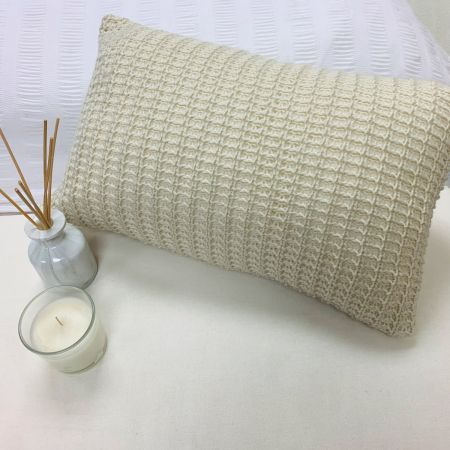 Dreamscene Soft Knitted Cushion Cover 30x45cm Unfilled - Biscuit