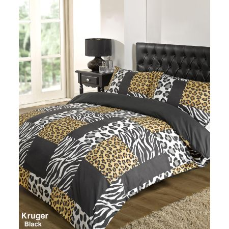 Kruger Duvet Cover Set - Black