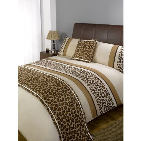 Leopard Bed In A Bag Duvet Cover Set - Chocolate