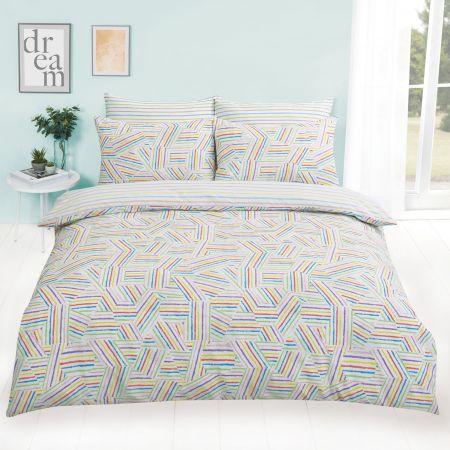Dreamscene Mosaic Rainbow Duvet Cover Set