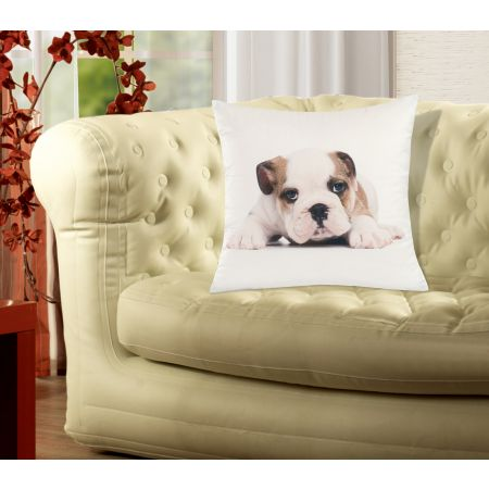 Soft Animal Cushion Cover 45 x 45cm Unfilled - Bulldog