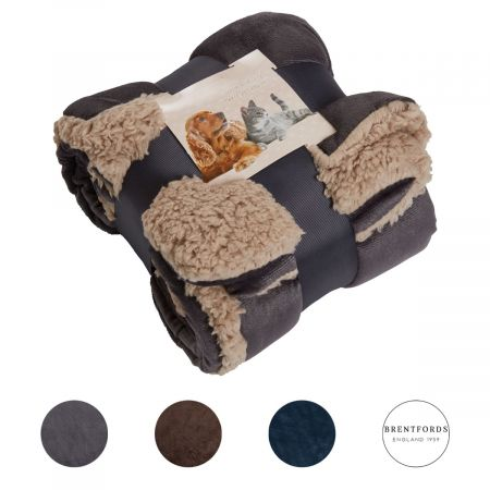 Brentfords Sherpa Soft Pet Blanket - 75 x 110cm