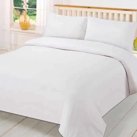 Brentfords Plain Duvet Cover Set - White