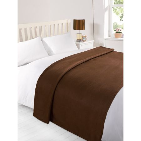 Fleece Blanket 120x150cm - Chocolate