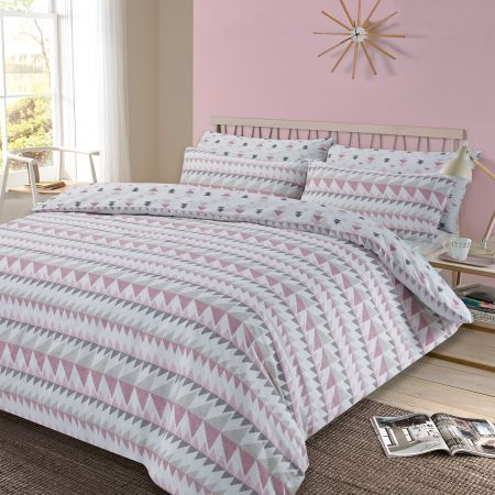 Rewind Duvet Cover Set - Blush Pink