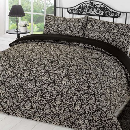 Sanctuary Duvet Cover Set - Black/Grey