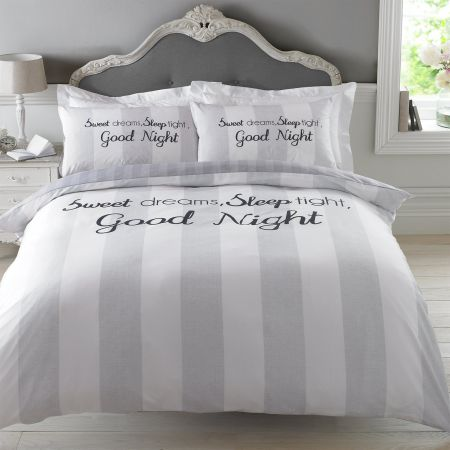 Sweet Dreams Duvet Cover Set - Grey