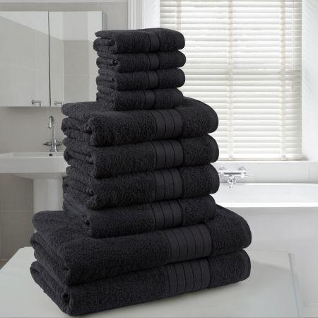 Dreamscene Towel Bale 10 Piece - Black