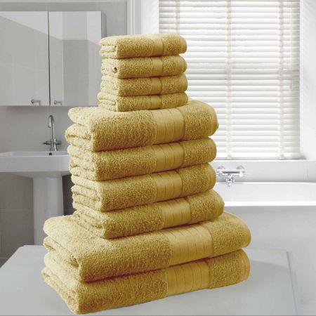 Dreamscene Towel Bale 10 Piece - Mustard Ochre Yellow