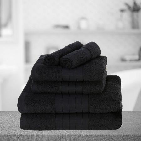 Brentfords Towel Bale 6 Piece - Black