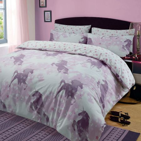 Dreamscene Unicorn Dreams Duvet Cover Set Pink