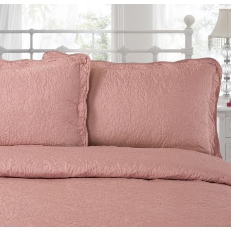 Victoria Pillo Shams - Vintage Pink