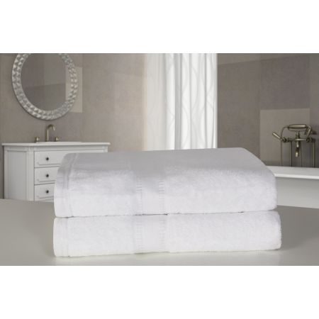 Dreamscene 2 Large Jumbo Bath Sheets - White