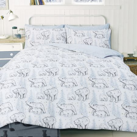 Polar Bear Duvet Cover Set - Grey