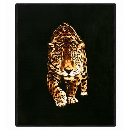 Dreamscene Faux Fur Leopard Mink Throw - 150 x 200cm