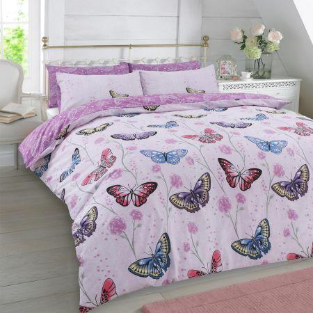 Dreamscene Butterfly Heaven Duvet Set - Purple
