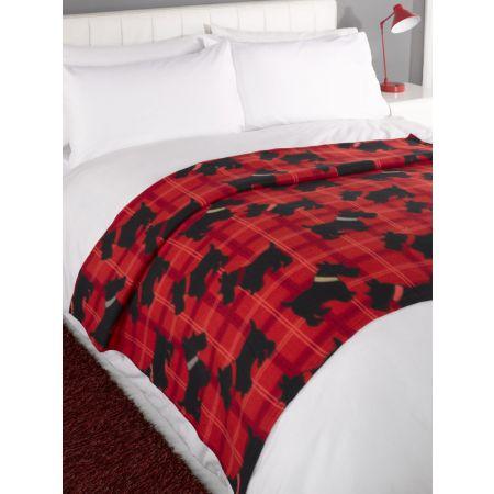 Fleece Blanket 120x150cm - Scottie Dogs