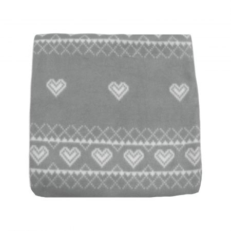 125X150 Print Fleece Throw Nordic Grey