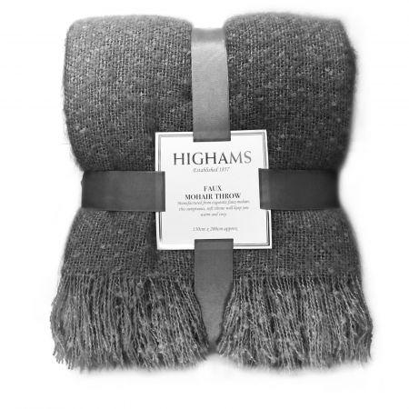 Mohair Throw, Charcoal Grey - 150 x 200cm