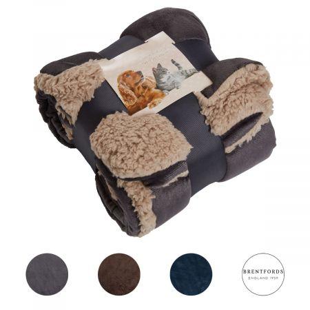 Brentfords Sherpa Soft Pet Blanket - 75 x 110cm