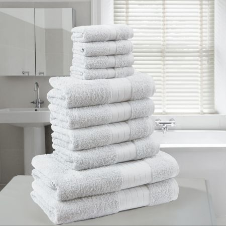 Brentfords Towel Bale 10 Piece - White