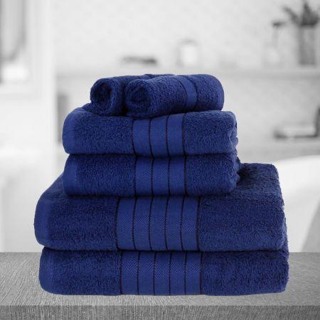 Dreamscene Towel Bale 6 Piece - Navy