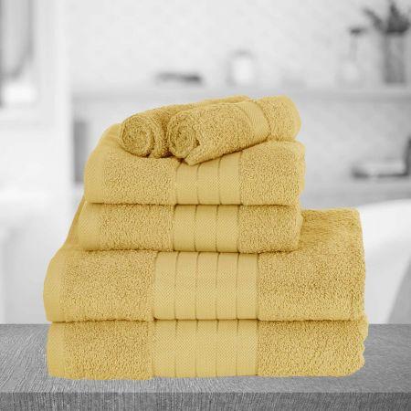 Brentfords Towel Bale 6 Piece - Mustard Ochre Yellow