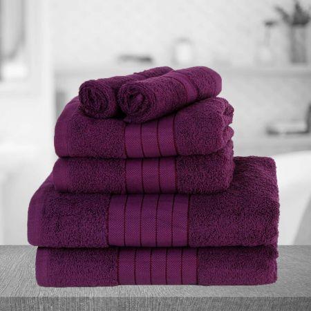 Dreamscene Towel Bale 6 Piece - Purple