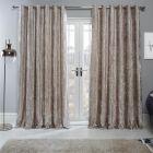 Sienna Home Crushed Velvet Eyelet Curtains - Natural Gold