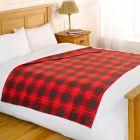 Fleece Blanket 120x150cm - Check Red