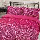 Dreamscene Glitz Gem Print Sparkle Quilt Duvet Cover With Pillowcases Bedding Set Pink - Super King