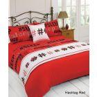 Dreamscene Hashtag Bed in a Bag Bedding Set, Red - Super King
